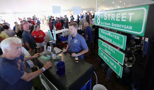 The Blue Harbor Craft Beer Festival in Sheboygan draws crowds.