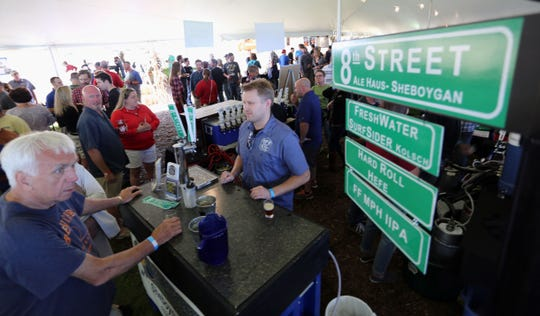 The Blue Harbor Craft Beer Festival in Sheboygan draws crowds.