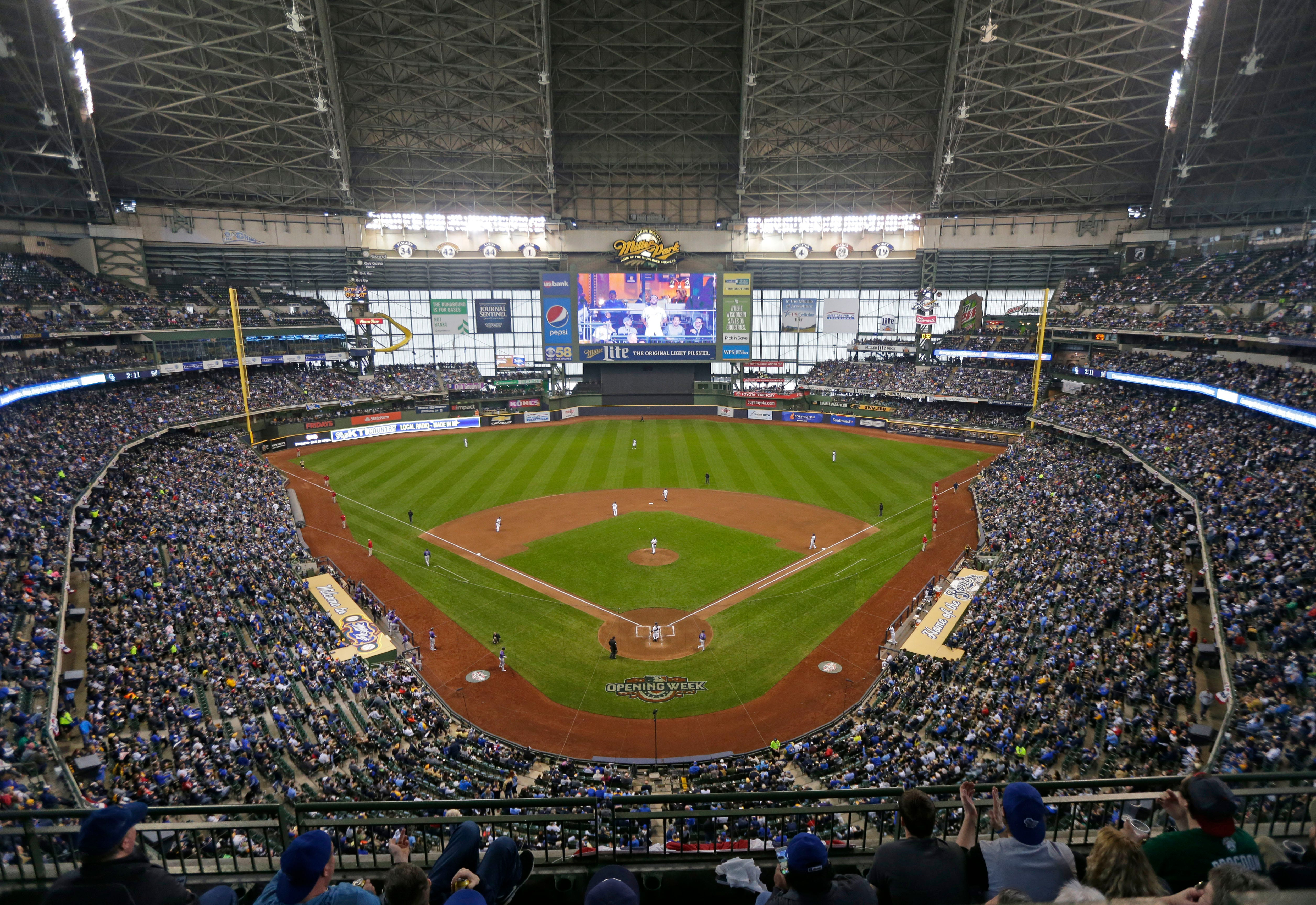 photo regarding Brewers Printable Schedule named Milwaukee Brewers launch 2019 period program