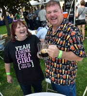 Dressed in their best brew attire, Mike and Kari Kamuda of Appleton were among nearly 800 attending the Egg Harbor AleFest in 2017.