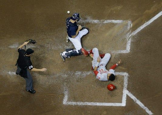 Ap Reds Brewers Baseball 8