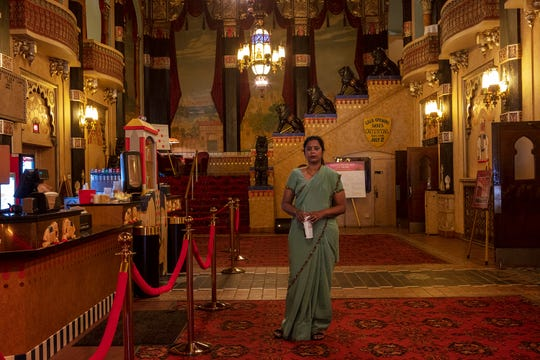 Nirmal Raja as photographed at the Oriental Theatre by Lois Bielefeld, part of a collaborative project.