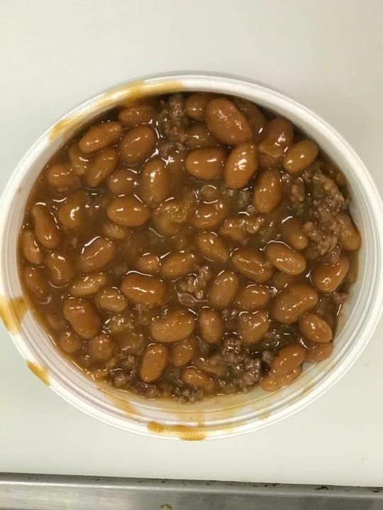 Arlanderz baked beans with ground beef have a key ingredient: Horton's original Arlanderz hot sauce.