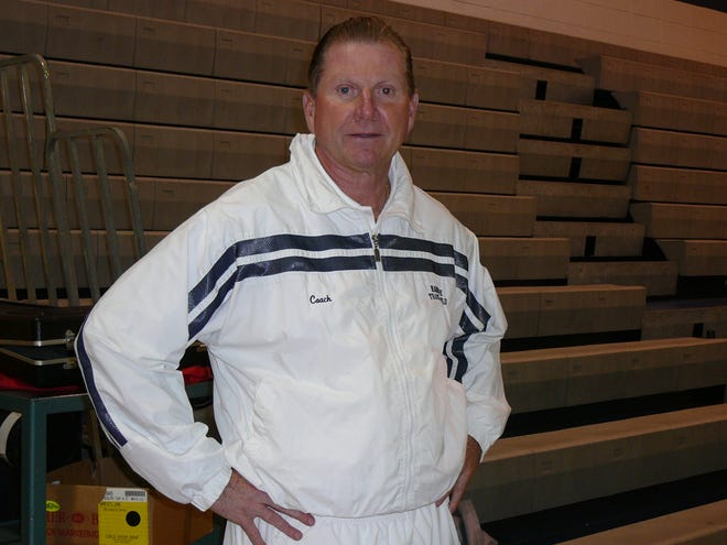 Randolph athletic director Ted Loeffler in the school gym in 2008