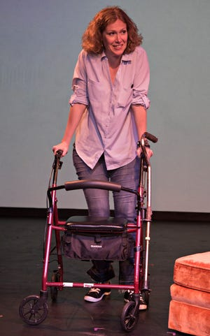 """Sherry Jo Ward brings her one-woman show """"Stiff"""" to the Cloverdale Playhouse on Friday and Saturday."""