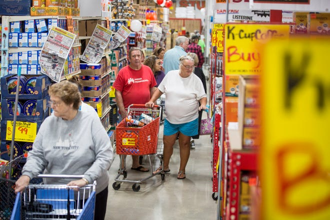 Shoppers flock to the Ollie's Bargain Outlet on Wednesday for the stores grand opening in Muncie. The store has one other location nearby in Anderson.