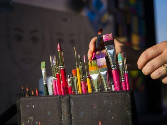 Paintbrushes Artswalk 2016