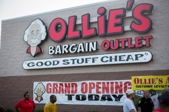An Ollie's Bargain Outlet is seen on its first day open in Muncie, Indiana. An Ollie's will open in Lafayette, La. in February 2019.