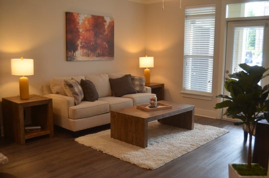Example of a one-bedroom apartment at The Edison luxury apartment complex in Gallatin.
