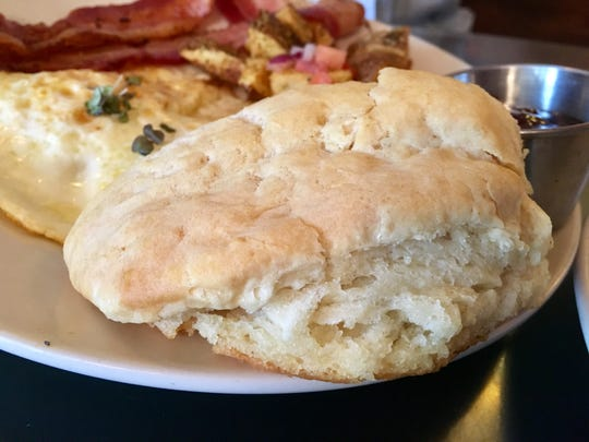 You can get a biscuit instead of toast with breakfast at Sky Blue Cafe in East Nashville -- and you should