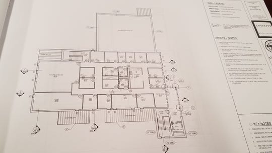 Second floor design for Hendersonville's new Fire Hall Station 2.