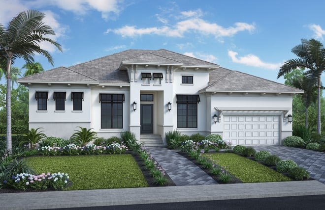 The Pasadena model by Stock Signature Homes at 1610 Winterberry on Marco Island.
