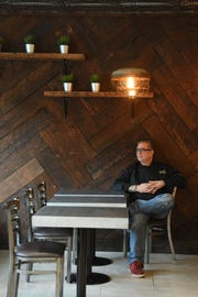 Chef Bennett Orfaly, owner of Harvest Dish, inside the restaurant.