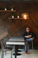 Chef Bennett Orfaly, owner of Harvest Dish, inside the restaurant.