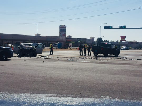 A head-on collision occurred at about 10 a.m. Wednesday morning, Aug. 22, 2018, on the intersection of Avenida de Mesilla and Valley Drive. Both drivers were transported to local hospitals.
