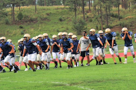 Ruidoso Warriors practice many hours getting ready for their first game of the season Aug. 24 at Crownpoint.