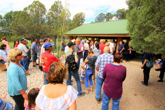 Participants at the 2018 Hospice Butterfly Release gather to receive their butterflies to set free as a sign of hope and life.