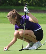 Senior Lizzie Pierce is a four-year varsity player starting her second season as a captain for the talented Bloomfield Hills golf squad.
