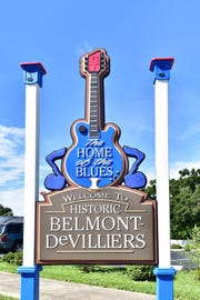 Belmont-Devilliers' rich history with music is reflected in the neighborhood's sign.