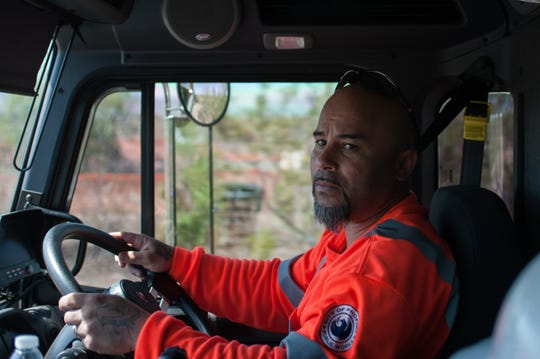 Apprentice Jose Perez said he has worked for Phoenix for 17 years, but working with these huge trucks is different than what he was used to.