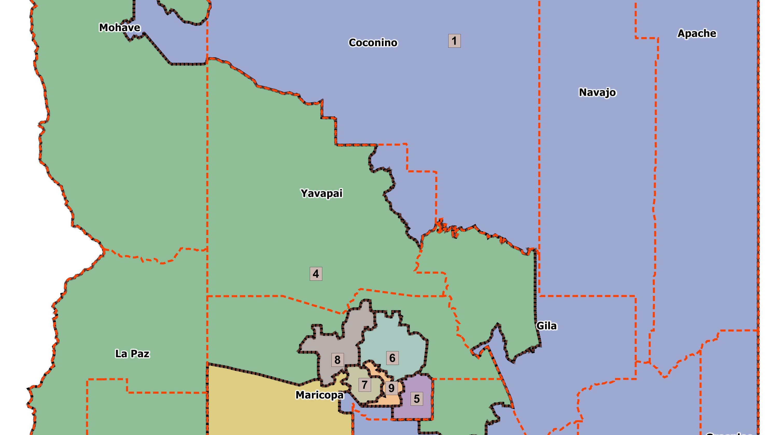 Sierra Vista Zip Code Map.Arizona Congressional District Map What District Am I In