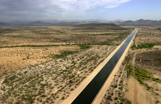 The Central Arizona Project Canal delivers water from the Colorado River to cities from Phoenix to Tucson.