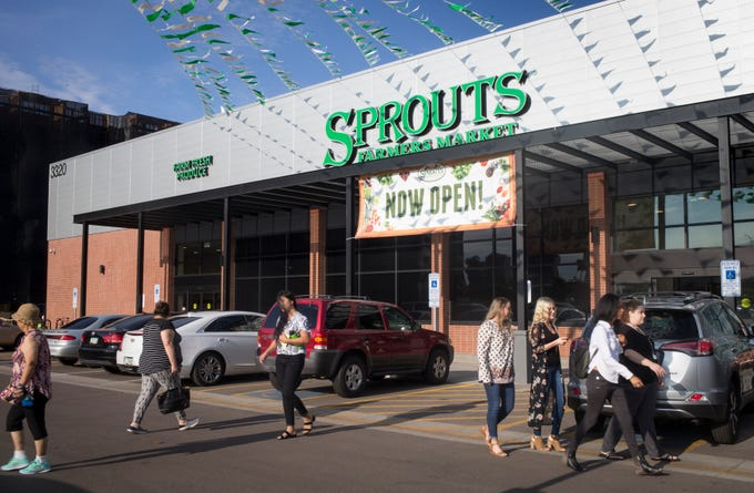 The Sprouts Farmer's Market opens Aug. 22, 2018, at Seventh Avenue and Osborn Road in Phoenix. It was the former site of Phoenix's oldest Bashas' grocery store, which closed in 2017.