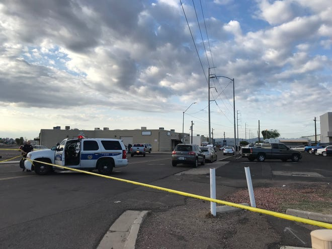 Police say a burglary suspect used a stolen U-Haul truck as a getaway vehicle, striking a police car and semi-truck before hitting and critically injuring a pedestrian near 31st Avenue and Osborn Road in Phoenix, Aug. 22, 2018.