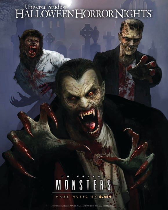 Old monsters get new life inside the Halloween Horror Nights maze inspired by the original Universal creatures. It features an original score by Rock-and-Roll Hall of Fame guitarist Slash.