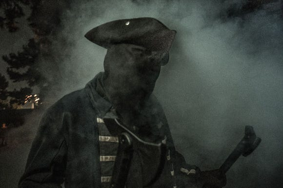 Mysterious characters emerge at Knott's Scary Farm.