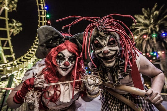 Ask them for a balloon animal at your own risk at Knott's Scary Farm.