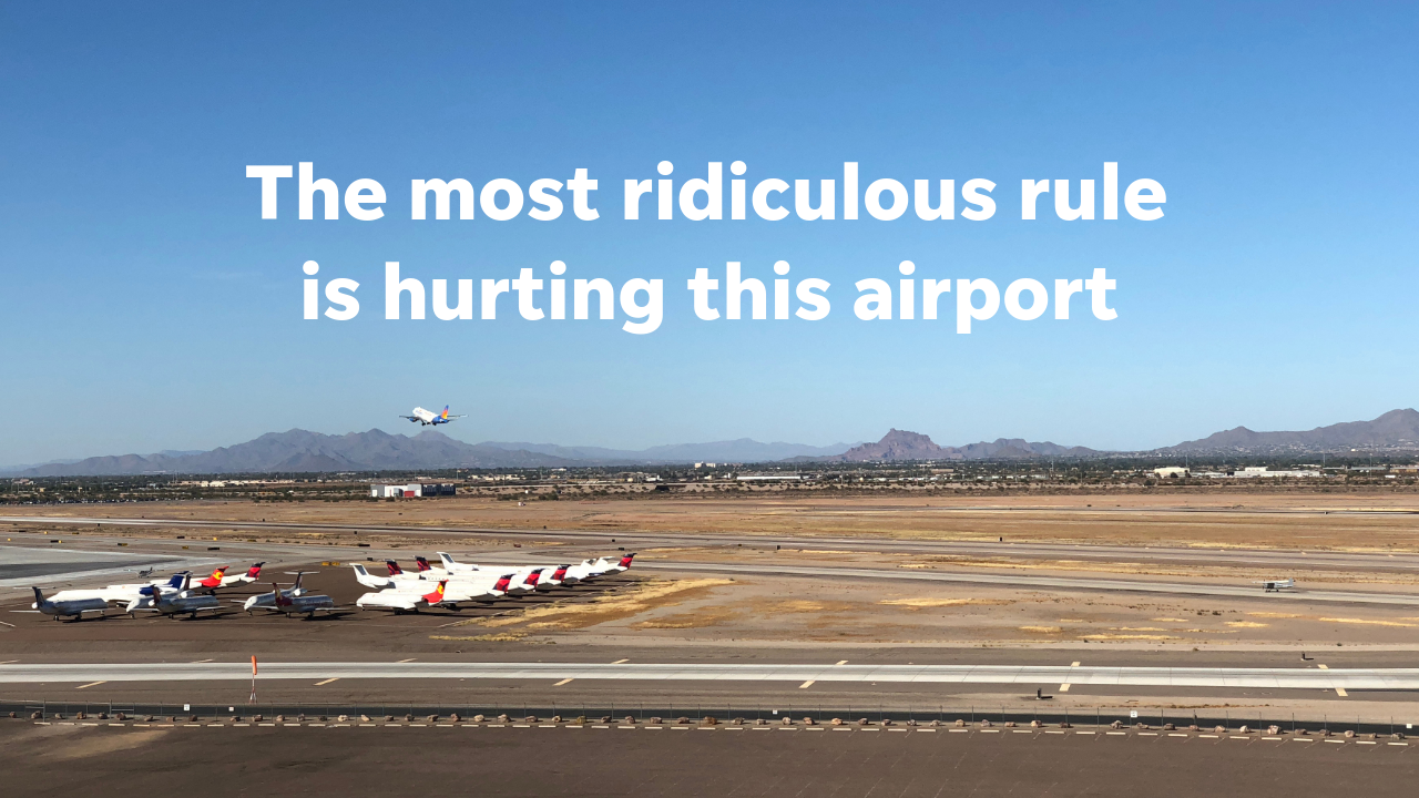 phoenix mesa gateway airport can t build a tower because of this rule