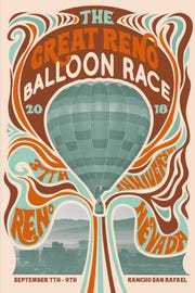 The 2018 poster for the Great Reno Balloon Race was created by local designer Courtney O'Neil.