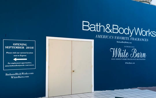 Bath and Body Works and White Barn are under construction at The Mall at Greece Ridge.