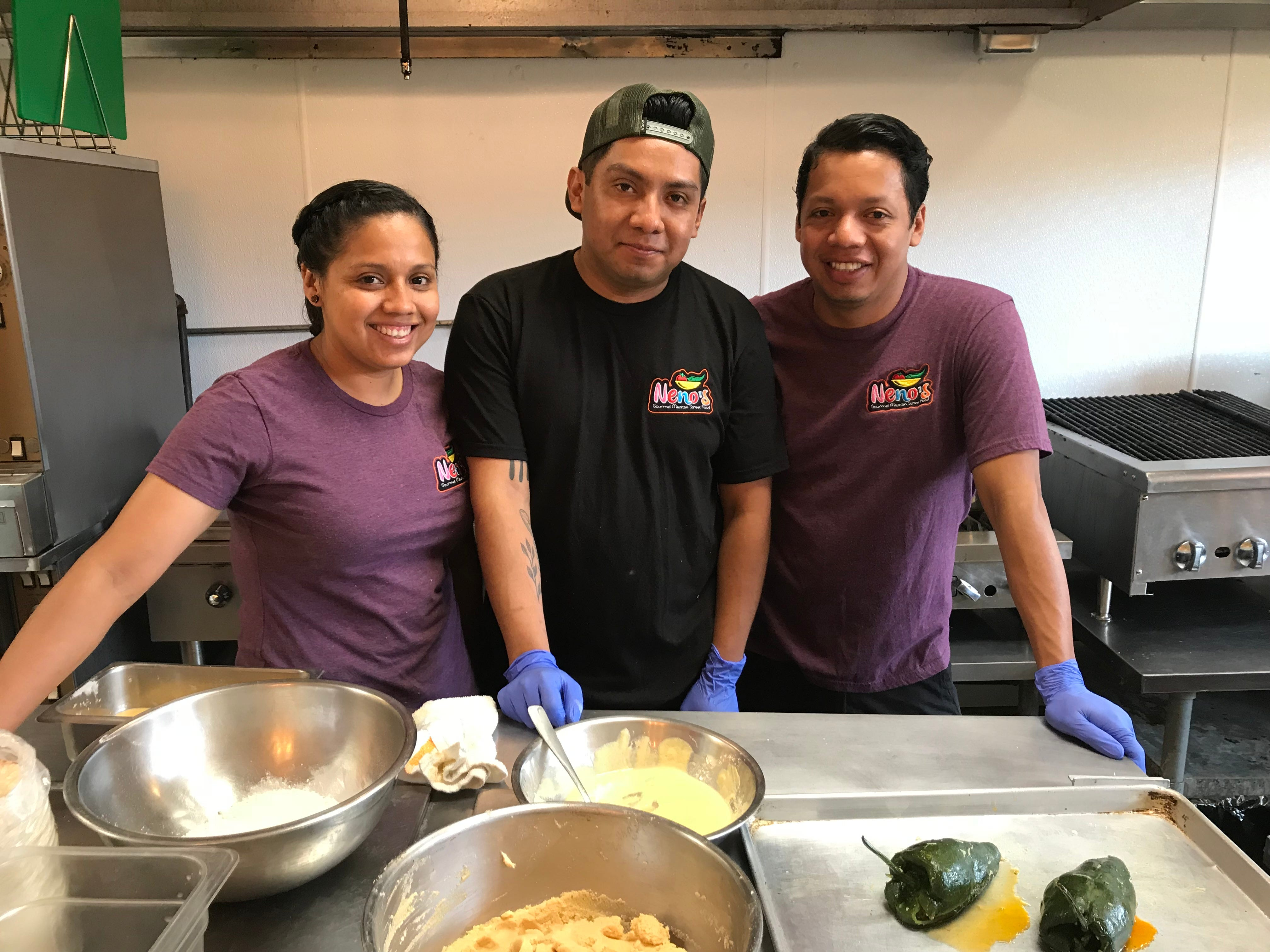 Siblings Ojayra, Fidelio and Eden Rita work together at Neno's.