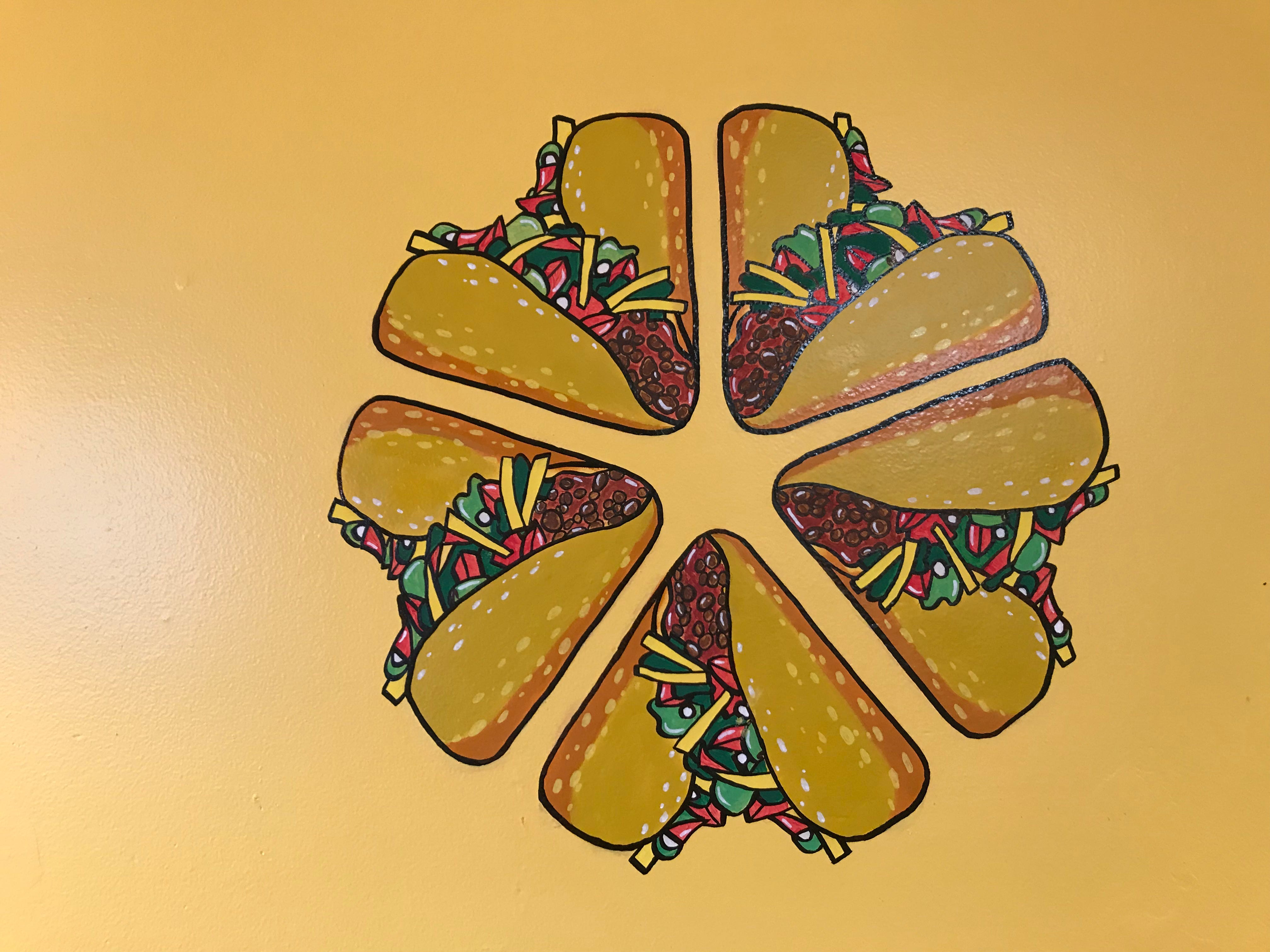 Tacos form the Rochester logo in this illustration by Derlisrael Rita.