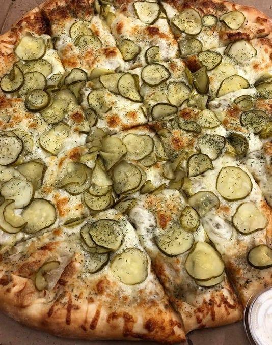 Rhinos Pizzeria dill pickle pizza