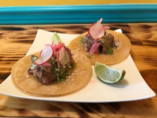 Carnitas tacos at Neno's.