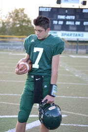 Red Bluff junior Eli Wehbey will start at quarterback for the Spartans this season, coach Orlyn Culp said. Eli Wehbey spent 2017 with the junior varsity team.