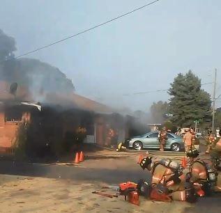 A fire sparked at a Salem duplex Wednesday morning.