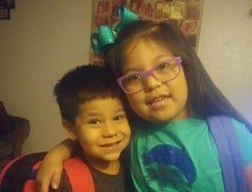 Elaina and Emiliano Saldivar head back to school Aug. 22, 2018.