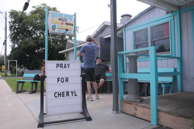 Cheryl Monroe worked at Ocean View Family Restaurant for 24 years until she suffered a brain aneurysm on Aug. 8. Over $11,000 has been raised to help cover her medical expenses.
