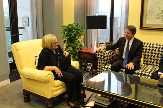 McCaskill meets with Kavanaugh