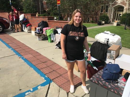 Haley Ebere, a freshman from Jupiter, Florida.
