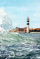 """""""Diamonds in the Sea"""" won 2nd Award of Excellence in the 2016 Brush Strokes."""