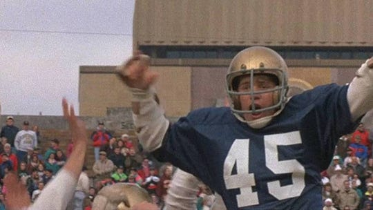 """Sean Astin has a single-minded drive to play football for Notre Dame in the sports film """"Rudy"""" (1993), which should whet the appetite for college ball even if the Fighting Irish are Florida State's gridiron rivals. It's being shown at 2 and 7 p.m. Tuesday at Movies at Governor's Square. The movie is rated PG and also features Jon Favreau and Charles S. Dutton. It did so-so on its release and has since become beloved."""