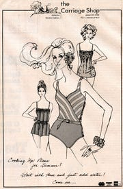 Karol Selvaggio's 1983 fashion illustration for the one-time local store The Carriage shop ran in the Tallahassee Democrat, where Selvaggio was the first art director.
