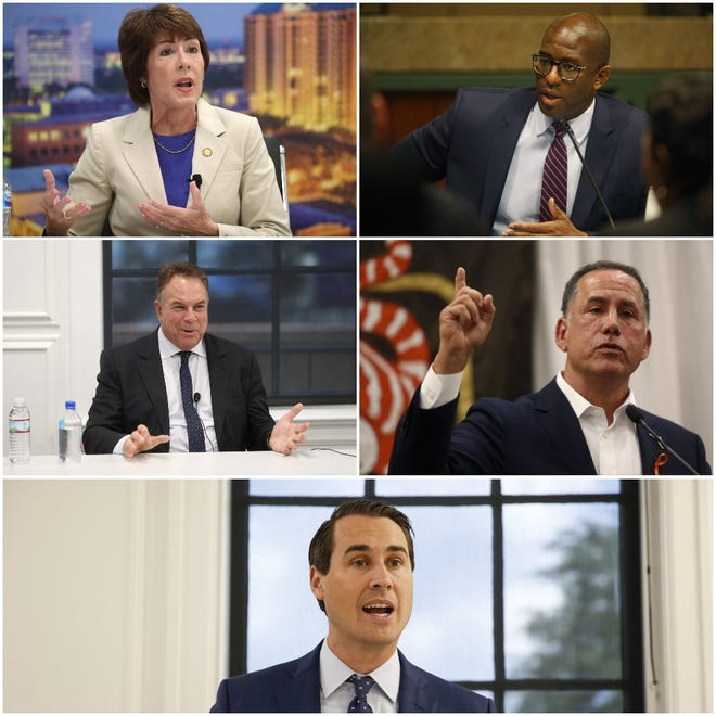 The five major Democratic candidates for Florida's governor