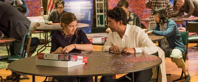 """Kelly Macdonald, left, discovers she has a thing for jigsaws in """"Puzzle,"""" opening this week."""