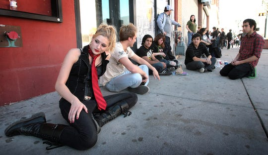 Fans of the band Green Day lined up for its 2013 concert at Tricky Falls in Downtown El Paso. A long line of people waiting to get into Tricky Falls for popular shows is an often-repeating scene.